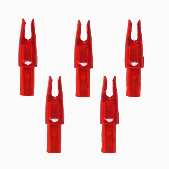50pcs/lot Archery Arrow Nocks For Carbon Arrow Shaft I.D 6.2mm 0.246″ Plastic Arrow Tails DIY Arrow Knocks Replacement