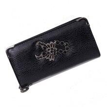 Women Wallet Leather Female Purse Long Zipper Card Holder Wallet Phone Wallet Skull Vintage Money Pocket Female Clutch Bag недорго, оригинальная цена