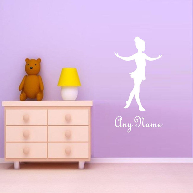 Customized Name Ballet Dancer Wall Sticker Kids Bedroom Nursery Personalized  Wall Decor Girls Dance Wallpaper Decals Part 77