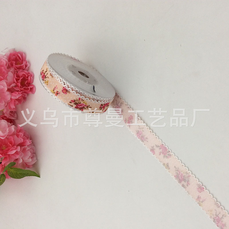 Fashion Polyester Ultrasonic Webbing Ribbon Embossed Belt Cake Box Line Bandwidth 2.5cm * 20 Yards Crafts Sideband Material