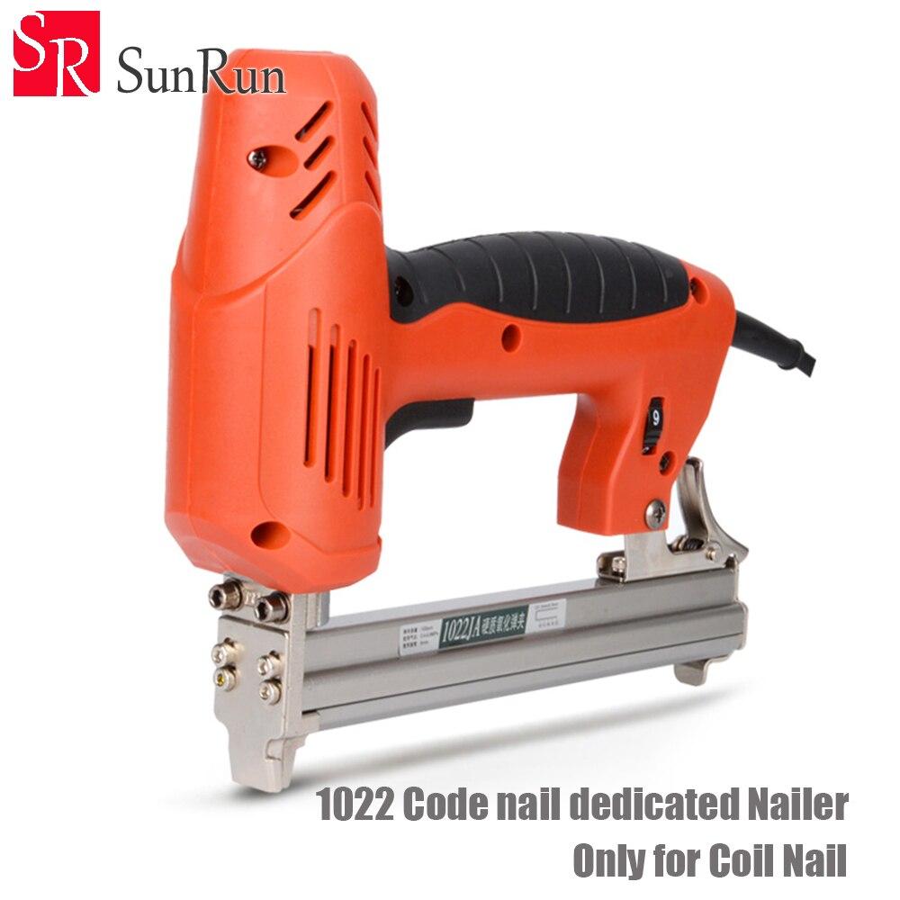 1022 Code nail dédié Cloueuse 1800 W 220-240 V 30 pcs/min Électrique Cloueuse Pistolet Électrique Agrafeuse Droite Nail Gun Outil pour le Bois