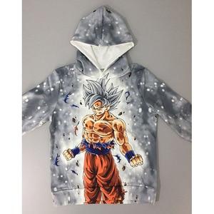 Image 3 - 드래곤 볼 까마귀 캐주얼 애니메이션 Goku 인쇄 빅 걸스 소년 후드 키즈 가을 아우터 긴 소매 아동 풀오버 스웨터