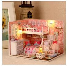 Music Box Wooden Sky City Creative Gift Birthday Gifts Diy Girls BoyfriendChina