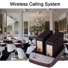 DAYTECH Restaurant Coast Pager Calling Buzzer System Quest Pagering 433MHZ Service Queue System 1 host 16 Receiver pagers 2 3 alphanumeric display receiver host 433mhz with touch screen voice broadcast for restaurant ordering system queue management