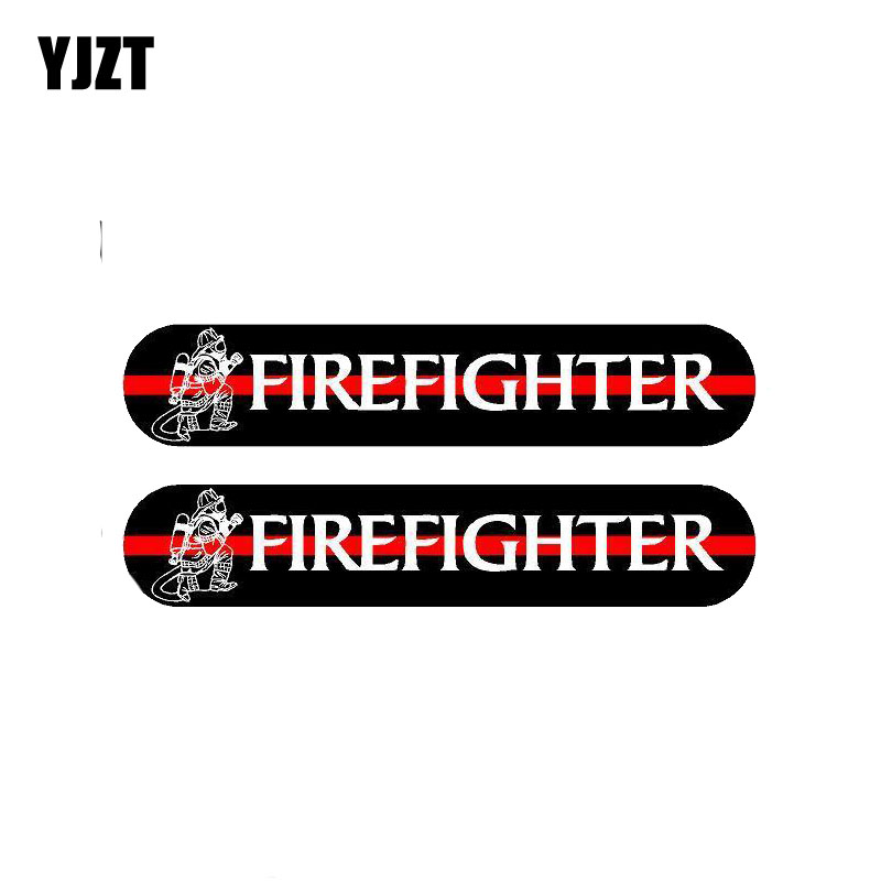 Car Stickers Delicious Yjzt 2x 13cm*2.4cm A Funny Fireman Car Sticker Reflective Decal Pvc 12-0497