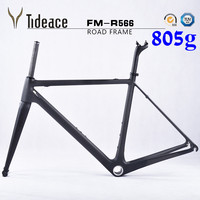 Cheap Carbon Road Bike Frame Di2 BSA Carbon Fiber Bike Frame With Fork Headset Clamp Seat