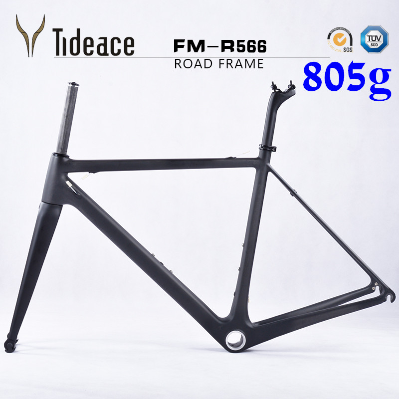 2017 Super light weight only 805g carbon road <font><b>bike</b></font> <font><b>frame</b></font> full carbon bicycle frameset cycling <font><b>frames</b></font> for 27.2 seatpost QR130*9mm