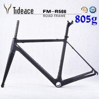 Cheap Carbon Road Bike Frame Di2 BSA Carbon Fiber Bike Frame With Fork Headset Clamp Seat