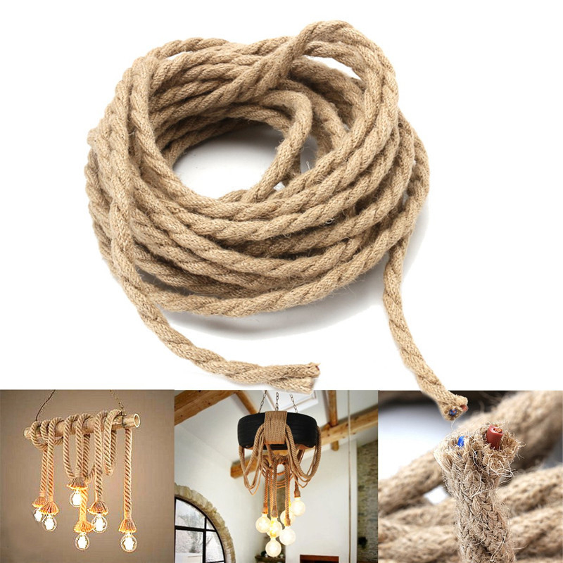 Braided Rope Cord String Wire Electrical Cable For Edison Pendant Lamp Fitting Rope Party Wedding Gift Home Garden Supplies