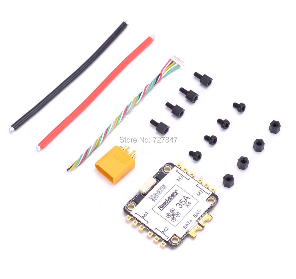 NEW REV35 35A BLheli_S 2-6S 4 In 1 ESC Built-in Current Sensor for RC Racer Racing FPV Drone Spare Parts emax f4 magnum tower parts bullet 30a 4 in 1 blheli s esc 2 4s built in current sensor for rc multicopter models motor frame