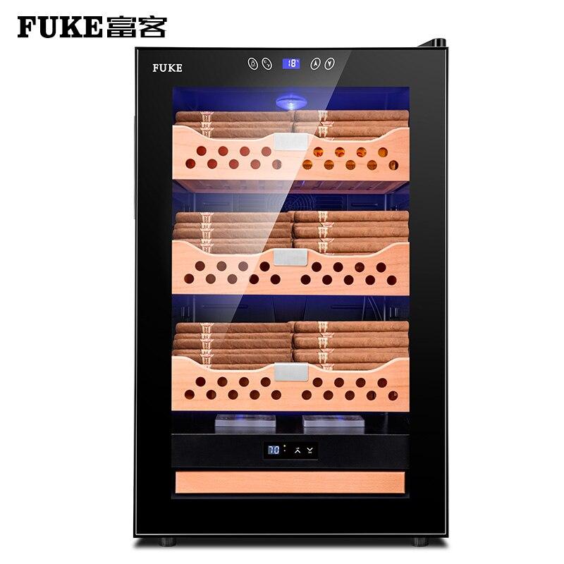 Бесплатная доставка шкаф для сигар humidor светодиодный светильник humidor кулер Humidor шкаф для сигар охладитель FK-68C