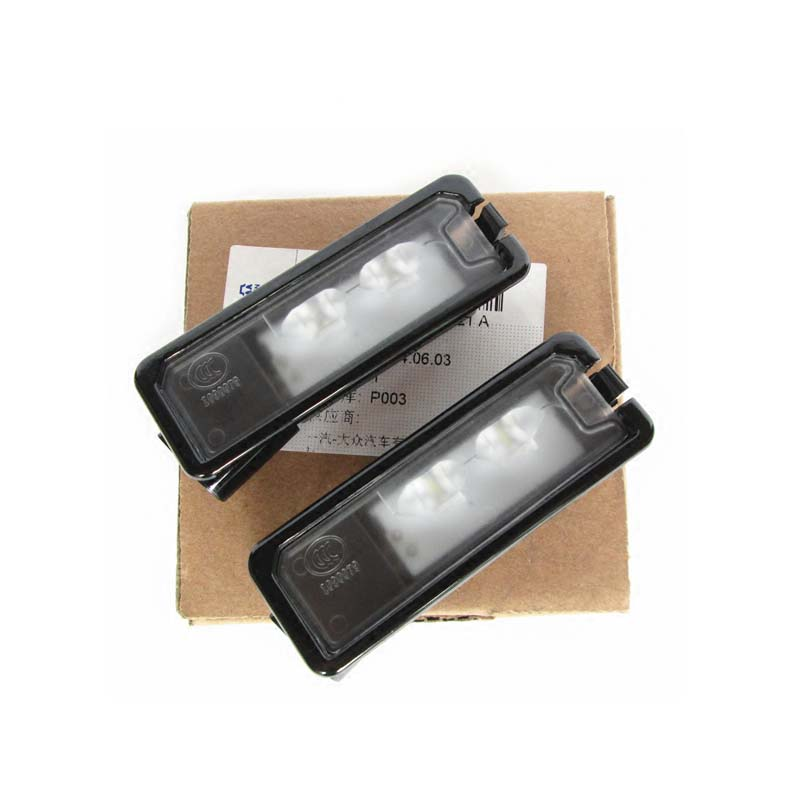 2Pcs For VW Passat B7 CC Golf 7 LED License Plate Light Number Plate Lamp 35D 943 021 A 35D 943 021A wholesale taxi led light auto indicator lamp vehicles car windscreen cab sign white led taxi lamp 12v car styling free shipping