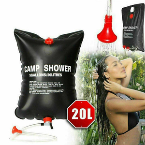 Solar Energy Water Shower Bag 20L Portable Foldable Heated Outdoor Camping RV Caravan Water Bag Travel Tools(China)