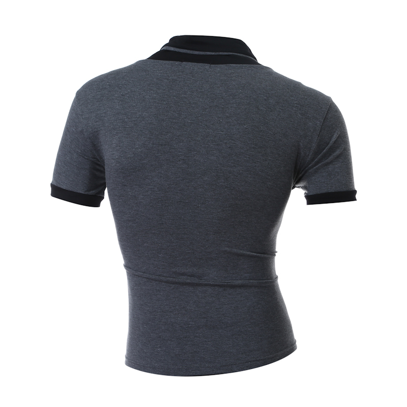 Brand MenS T Shirt 2018 Summer Solid Color Fashion V-Neck Short-Sleeved High Quality Male T-Shirt Slim Male Tops DD03