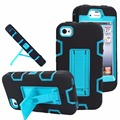 Para iphone 6 heavy duty soporte 3 en 1 armor defender case para iphone 6 6 s 6 s plus pc plástico duro de silicona kiskstand casos