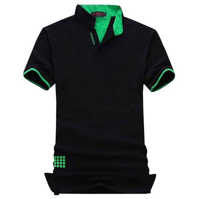 Новая Мода Марка Мужчины Polo Рубашка Твердые V-образным Вырезом С Коротким Рукавом Slim Fit рубашка Мужчины Хлопок Polo Рубашки Повседневные Рубашки Плюс Размер 6XL 7XL