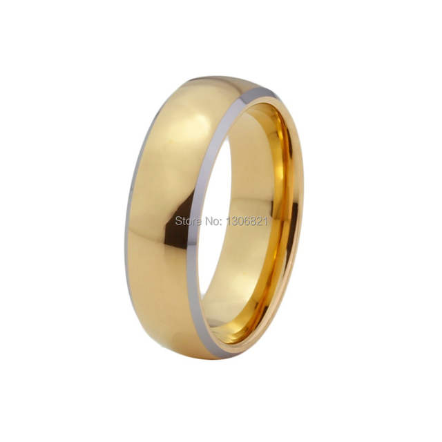 3d6f5a1928d48 Very nice mens and women tungsten wedding bands gold couple rings for lovers-in  Wedding Bands from Jewelry & Accessories on Aliexpress.com | Alibaba Group