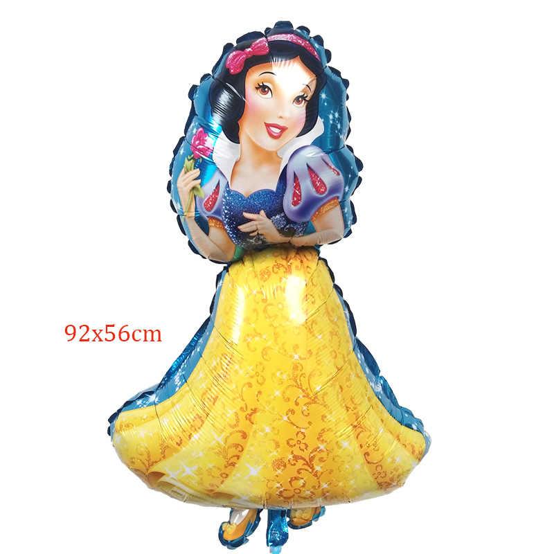 1 шт. день рождения шары большой Золушка Белоснежка Эльза Принцесса пять принцесса фольга шарики, День подарков будущей матери украшения Globos