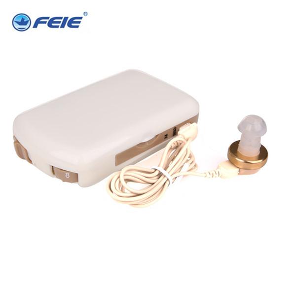 2017 China Preço de Bolso Amplificador de Som Audição Loud N Clear Aids Amplificador de som surdo com Earplug Melhor Presente S-7A Drop grátis