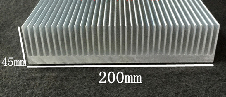 Free Ship by DHL/EMS/ARAMEX High-power Electronic Radiator/Aluminum heat sink W200mm,H45mm,Custom length 200*45*400mm Radiator цена