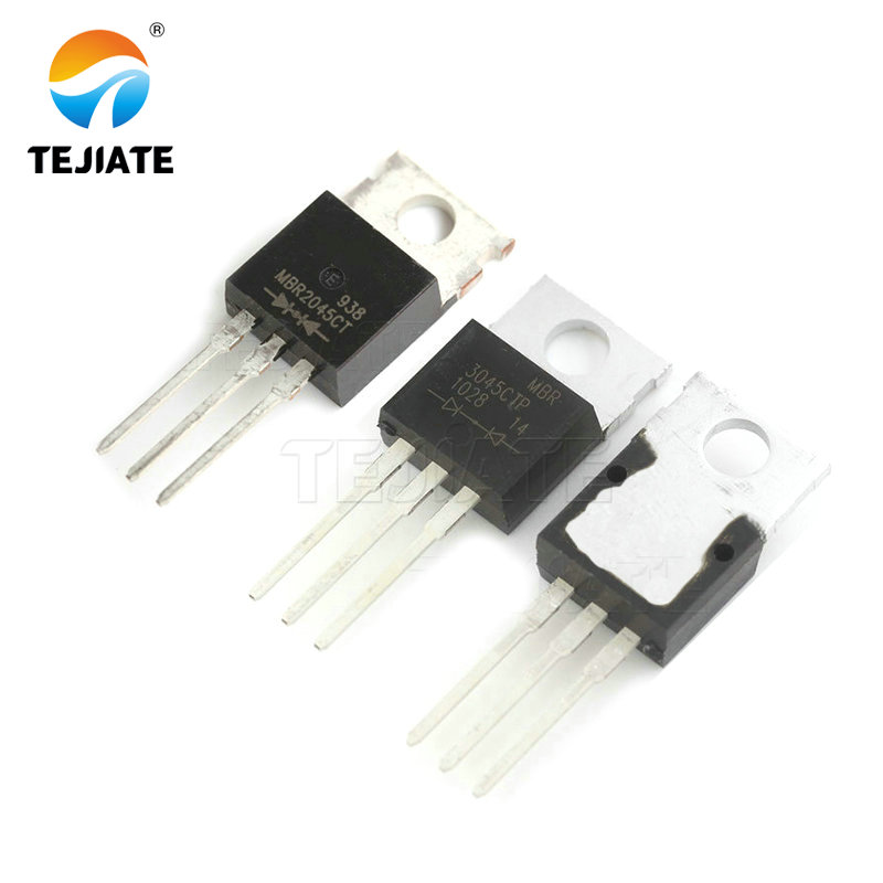 10pcs/lot <font><b>MBR2045</b></font> MBR2045C Schottky & Rectifiers MBR2045CT 20A 45V TO-220 new original In Stock MBR3045CT 30A45V image
