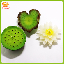 2017 new original baked plant silicone mold  lotus seed soap mould candle clay tools