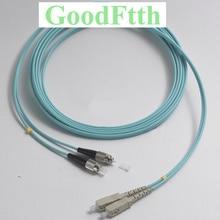 Fibre cordon de raccordement SC FC Multimode OM3 Duplex GoodFtth 20 100m