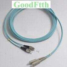 Оптоволоконный патч корд джемпер SC FC Multimode OM3 дуплекс GoodFtth 20 100m