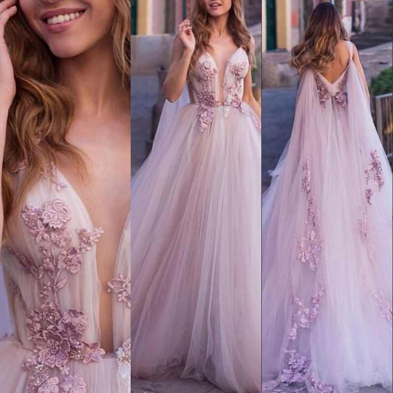 Long Dresses Prom women Dress Appliques Tulle New Women Formal Gown For Prom Wedding Party Dresses Robe De Soiree