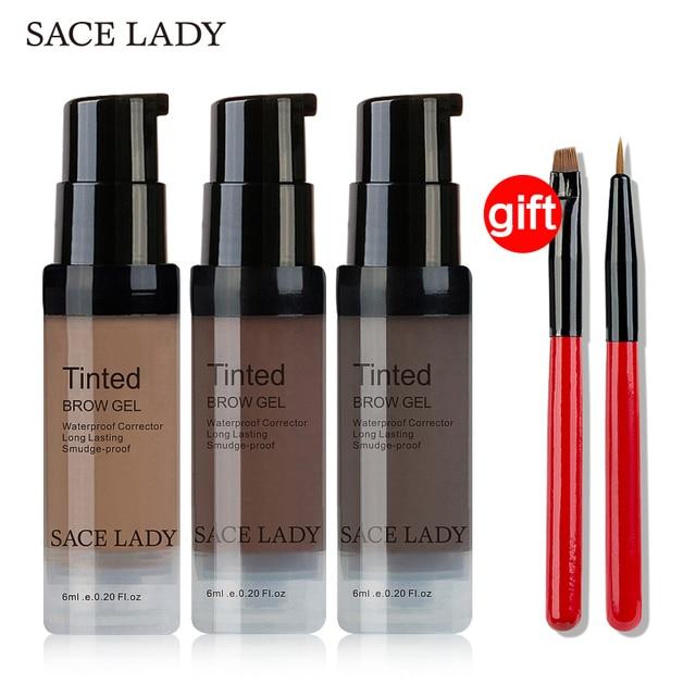לקנות 3 לקבל 1 מתנה SACE ליידי גבות גוון סט עמיד למים חינה איפור ג 'ל מברשת עיניים גבות קרם ערכת לעשות עד צבע קוסמטי Enhancer