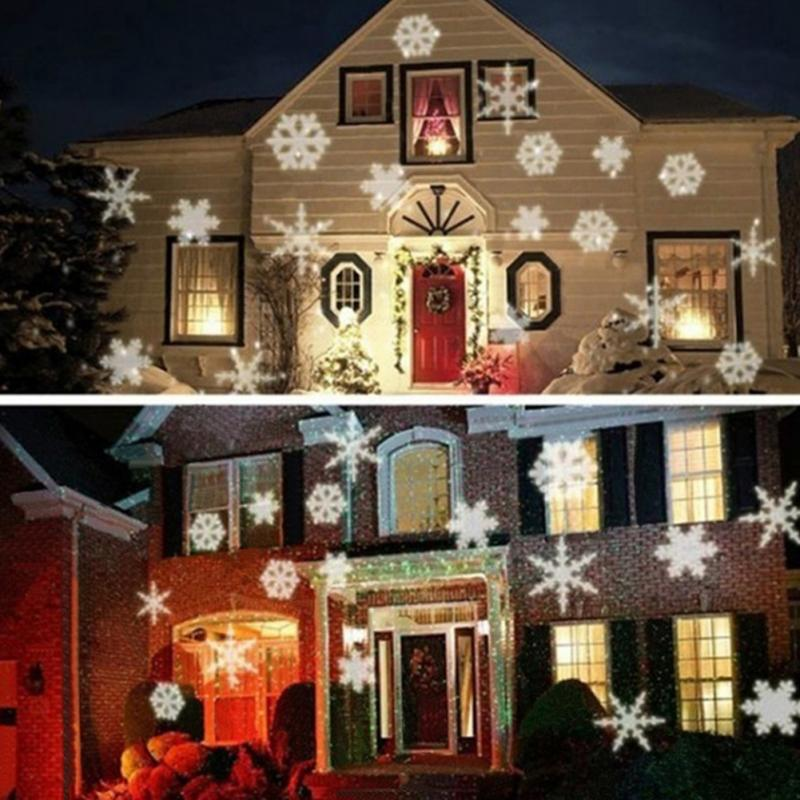 2017 Mery Christmas Lights Outdoor LED Snowflake Projector Light Star Lawn  Lamps Light Waterproof Snow Lasers Christmas Lights In Holiday Lighting  From ...