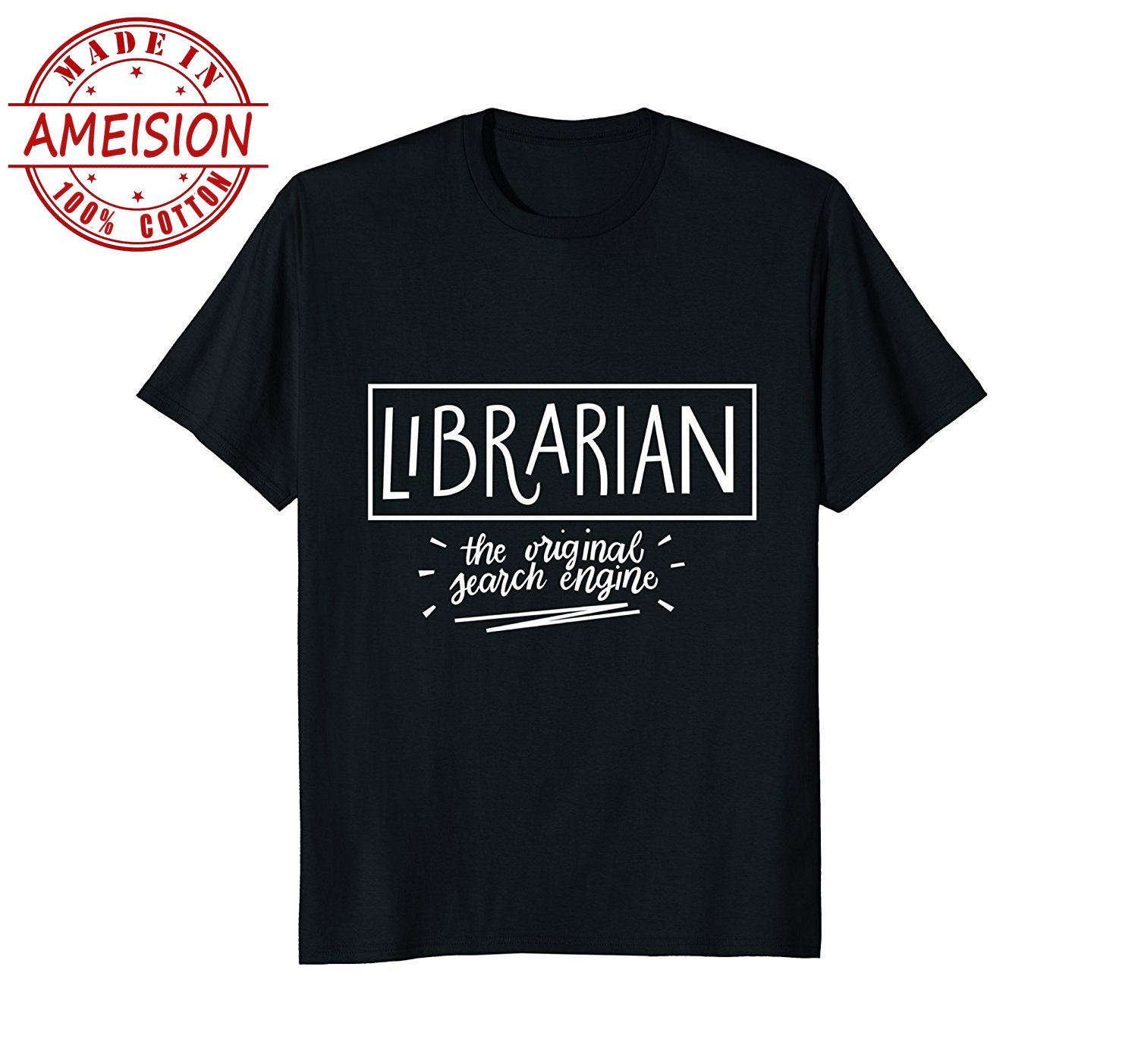 New Summer Hot Sale mens fashion 2019 Librarian Original Search Engine Shirt | Librarian Gifts Tee Tee shirt image