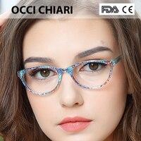 OCCI CHIARI 2018 High Quality Fashion Eyeglasses Brand Designer HandMade Acetate Glasses Frame For Girls Child