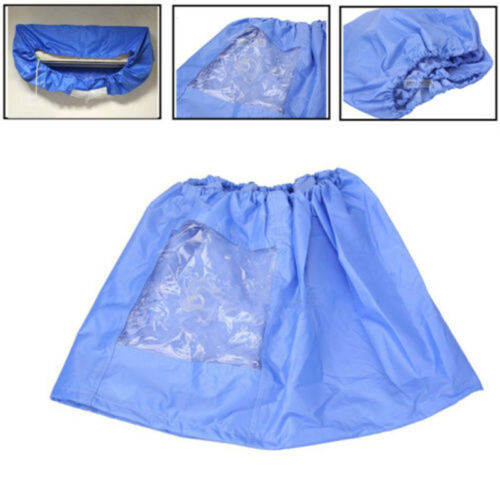 Air Conditioner Waterproof Cleaning Cover Dust Washing Clean Protector Bag Blue Household Cleaning Dust Covers