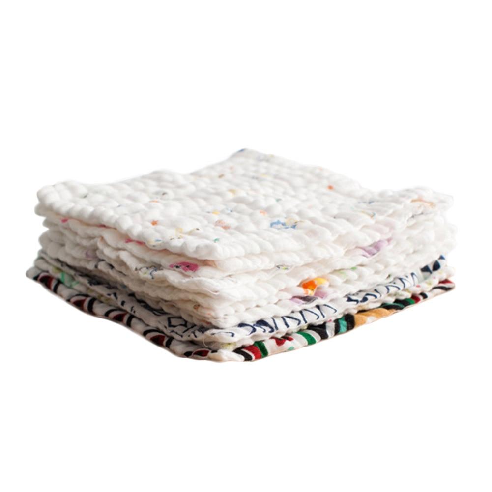 Baby Bath Towel Cotton Wipes Face Towel 6 Layers Gauze Newborn Bibs Infant Feeding Burp Toddler Kids Saliva Bathing Wash Cloth