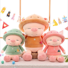New Style Cute Wearing Hat Pig Plush Toys Stuffed Animal Pig Plush Doll Toy Children Birthday & Christmas Gift spiral style plush christmas hat red white