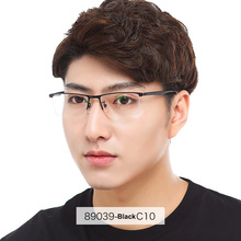 Men Prescription Glasses Myopia Half Rimless Browline Dioptr