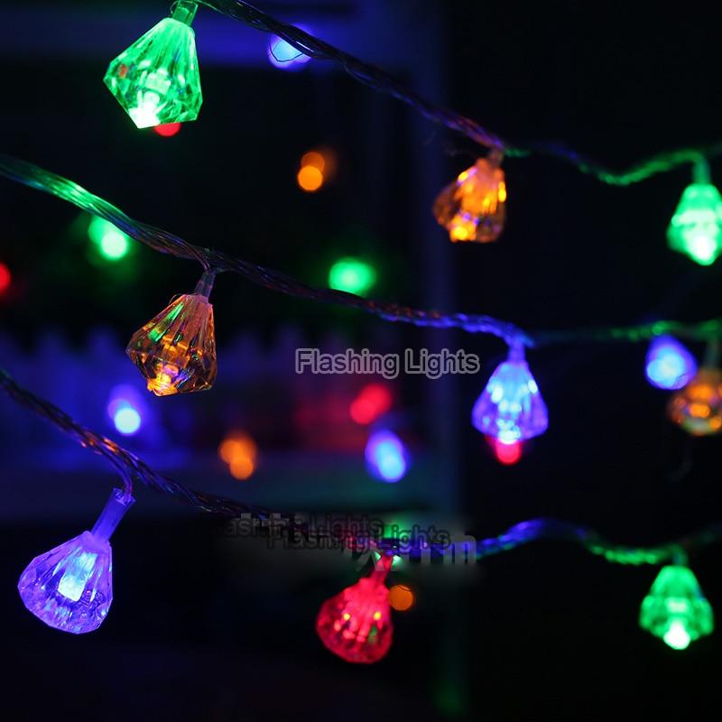luminaria 8M 50 LED 다이아몬드 모양의 문자열 조명 야외 - 휴일 조명 - 사진 2