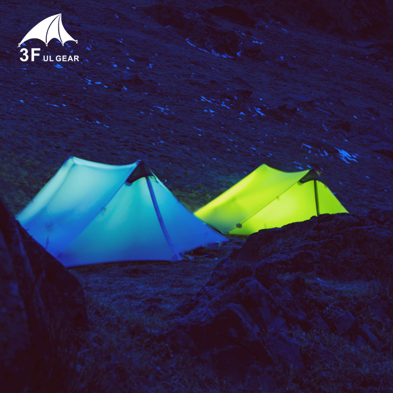 New 3F 2 persons 4 seasons 15D ultralight high quality waterproof outdoor camping tent catalog 4 seasons