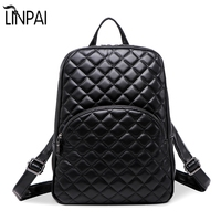 100 Genuine Leather Backpack New Quilted Fashion Sheepskin Shoulder Bag Backpack Women S Casual Shoulder School