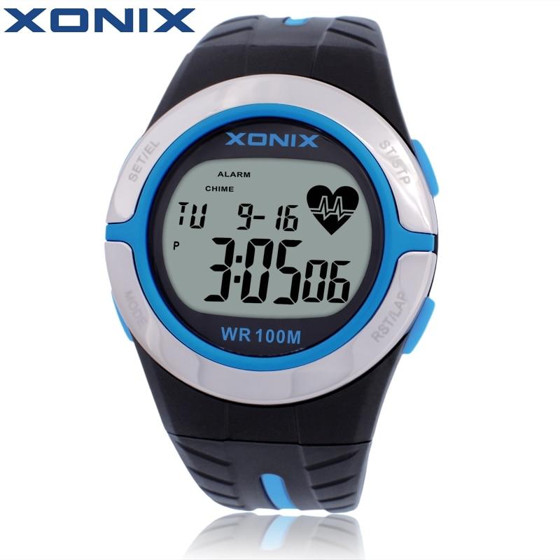 XONIX Heart <font><b>Rate</b></font> Monitor Unisex Sport Watches Waterproof 100m Men And Women Digital Watch Running Diving Hand Clock Montre Homme