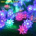 Multicolor LED cadena luces de la bola de luces de Navidad Luces de intermitencia lámpara tira llevada iluminación esfera para el banquete de boda guirnalda
