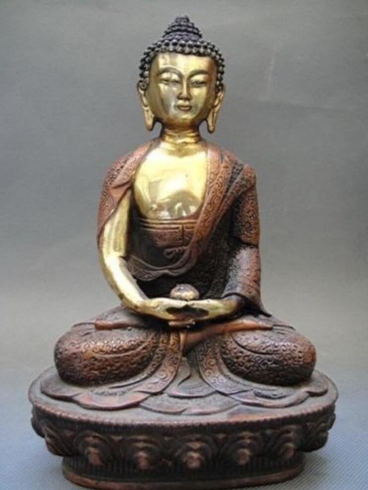 Old Tibetan Brass Buddhism Bodhisattva Sakyamuni Buddha StatueOld Tibetan Brass Buddhism Bodhisattva Sakyamuni Buddha Statue
