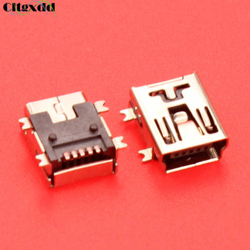 Cltgxdd 5pin Mini USB jack pengisian port konektor USB socket penggantian bagian Untuk MP3 MP4 GPS PS3 Wireless Controller Joypad 5 P