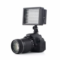 1set Camera HD 160 LED Video Light Lamp 12W 1280LM 5600K 3200K Dimmable For Canon For