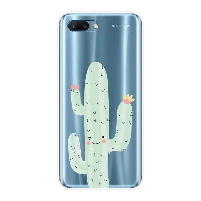 Мягкий чехол для телефона для huawei Honor 8X MAX 10 9 8 7 кактус Флора Силиконовая задняя чехол для huawei Honor 7 8 9 10 Lite 7 S 7X 7A 7C Pro