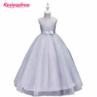Formal Teenage Girls Party Dresses 2017 Kids Girls Flower Lace Dress For Party And Wedding