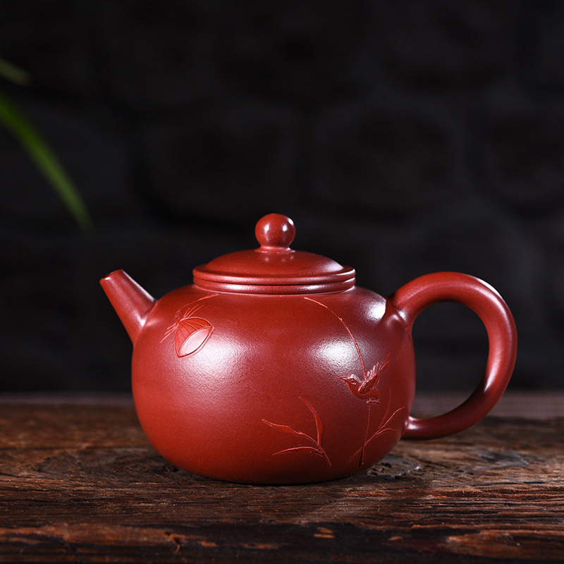 recommended quality goods manual undressed ore capacity small dahongpao mud pot of bao chun kung fu tea set the teapotrecommended quality goods manual undressed ore capacity small dahongpao mud pot of bao chun kung fu tea set the teapot