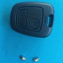 ZABEUDEIR для peugeot 206 2 кнопки дистанционного случае ключ без NE73 лезвия Нет логотипа добавить 2 шт микро-переключатели