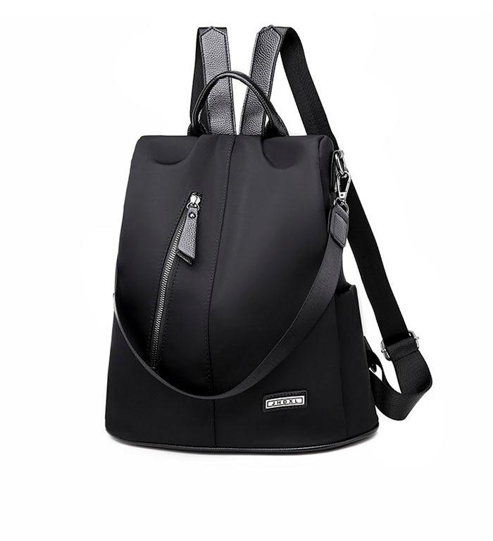 HTB1yVAvKzTpK1RjSZKPq6y3UpXa7 Women Anti-theft Backpack Waterproof Fabric Large Female Shoulder Bag Large Capacity Simple Style Casual Mochila Travel Bendy
